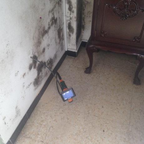 Condensación en vivienda: manchas de moho