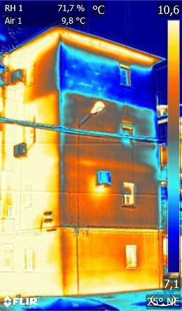 Faltas de aislamiento - temperaturas altas y condensación en interior